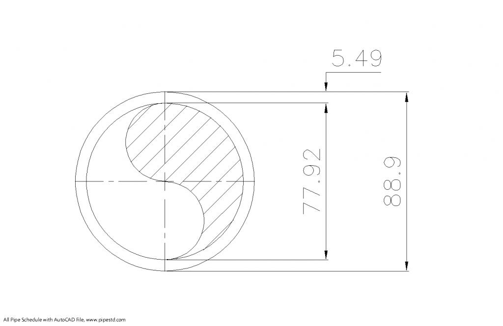 Schedule STD Pipe 3 Inch DN80