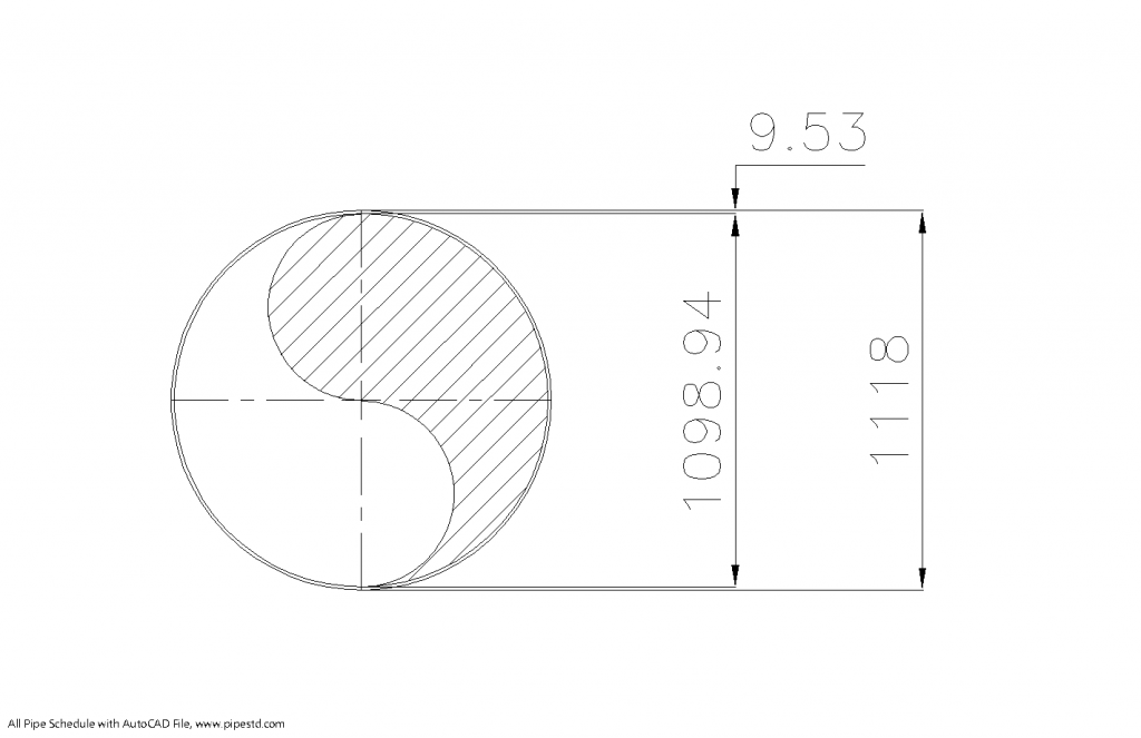 Schedule STD Pipe 44 Inch DN1100