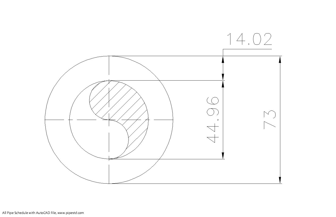 Schedule XXS Pipe 2 1/2 Inch DN65