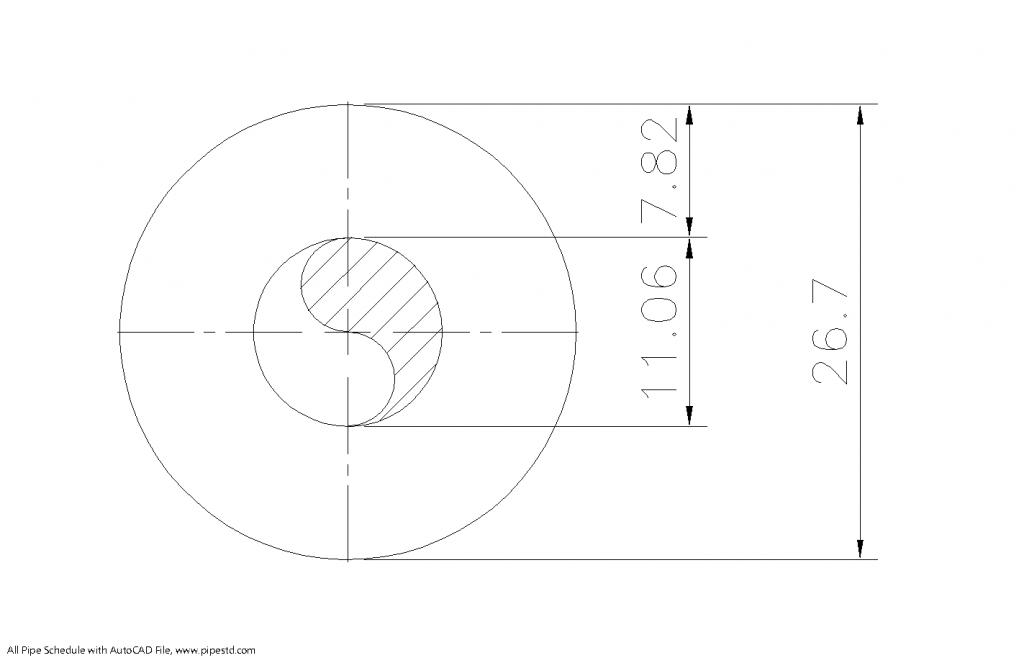 Schedule XXS Pipe 3/4 Inch DN20