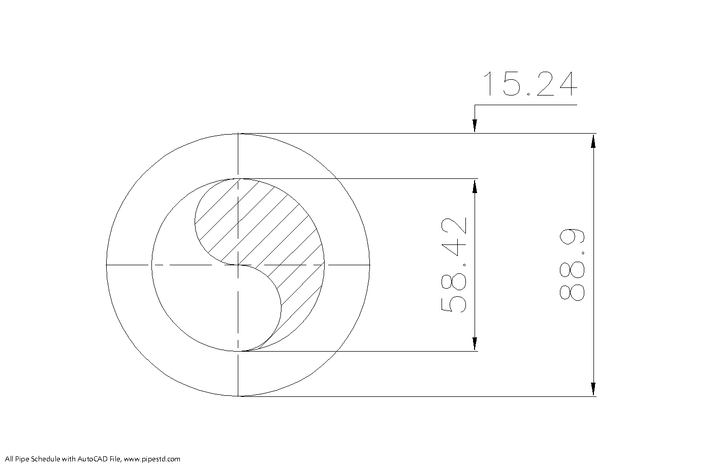 Schedule XXS Pipe 3 Inch DN80