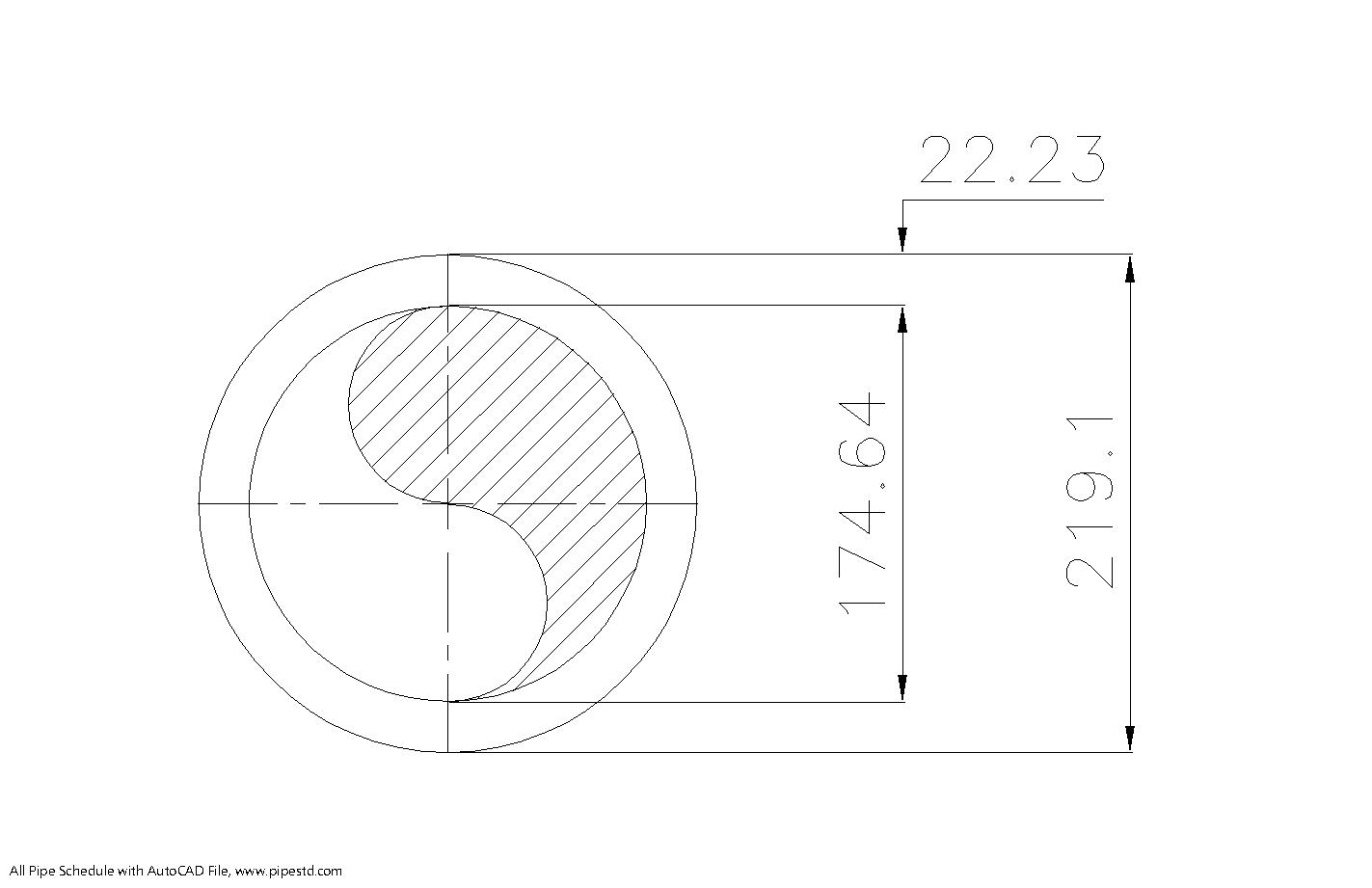 Schedule XXS Pipe 8 Inch DN200