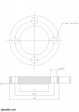 Blind Flange 1 1/2 Inch Class 150