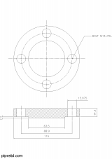 Blind Flange 1 1/4 Inch Class 150