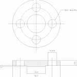 Blind Flange 1-2 Inch Class 150