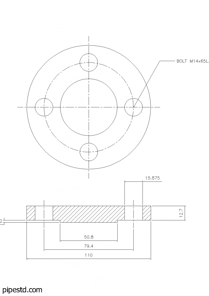 Blind Flange 1 Inch Class 150