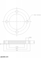 Blind Flange 2 1/2 Inch Class 150