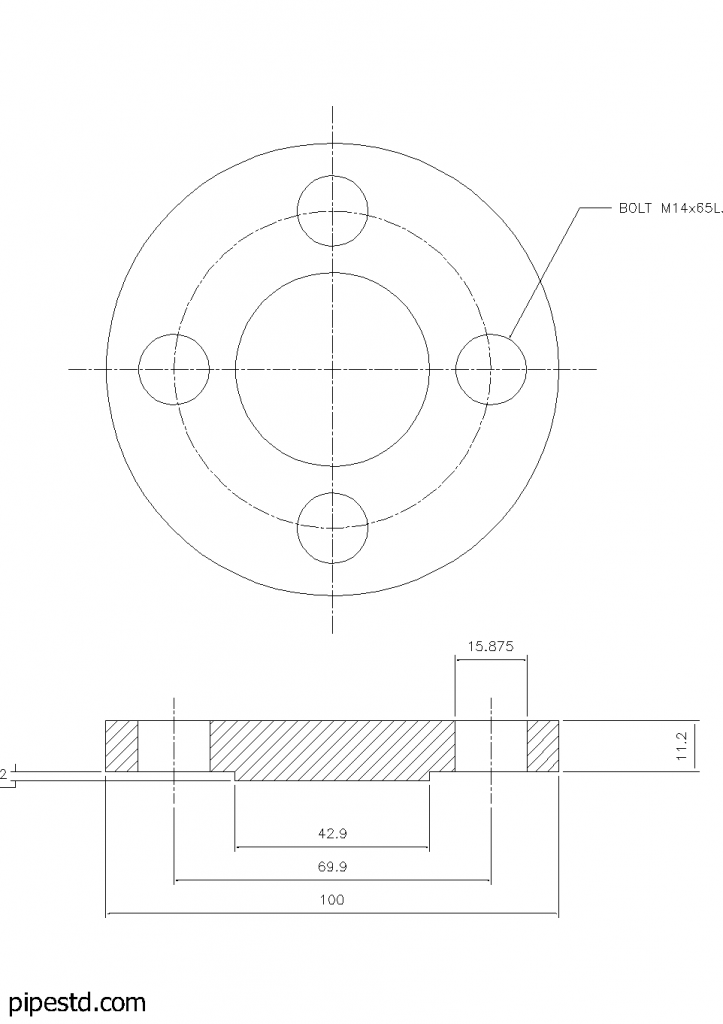 Blind Flange 3/4 Inch Class 150