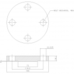 Blind Flange 1 1/2 Inch Class 300