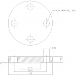 Blind Flange 1 1/4 Inch Class 300