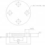 Blind Flange 1-2 Inch Class 300