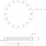 Blind Flange 10 Inch Class 300