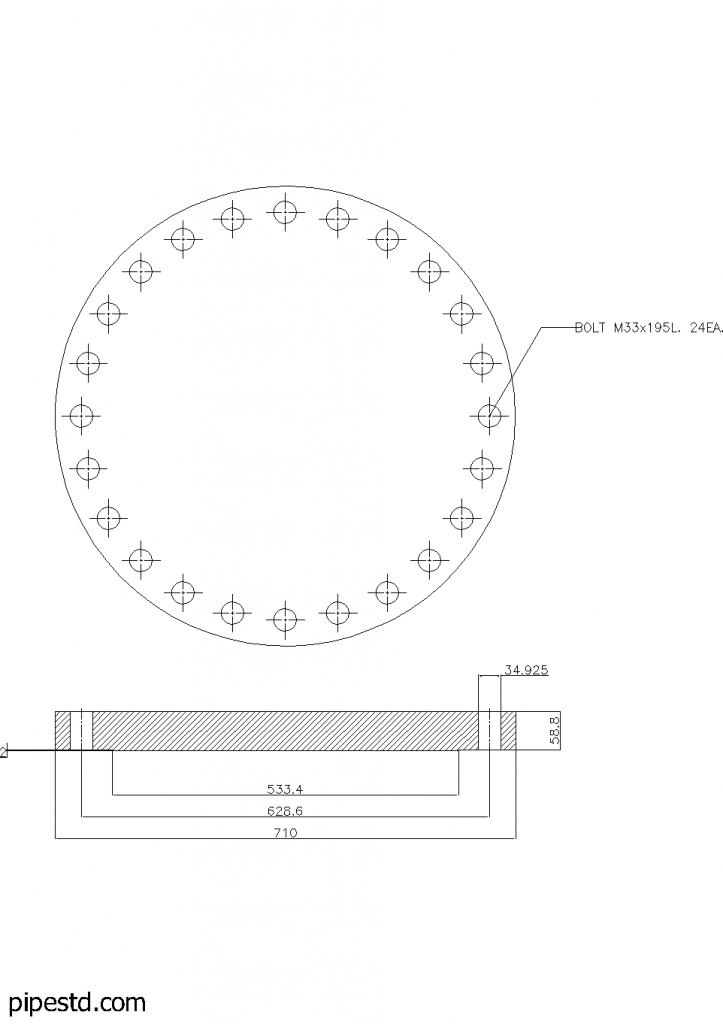 Blind Flange 18 Inch Class 300
