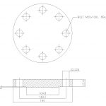 Blind Flange 2 1/2 Inch Class 300