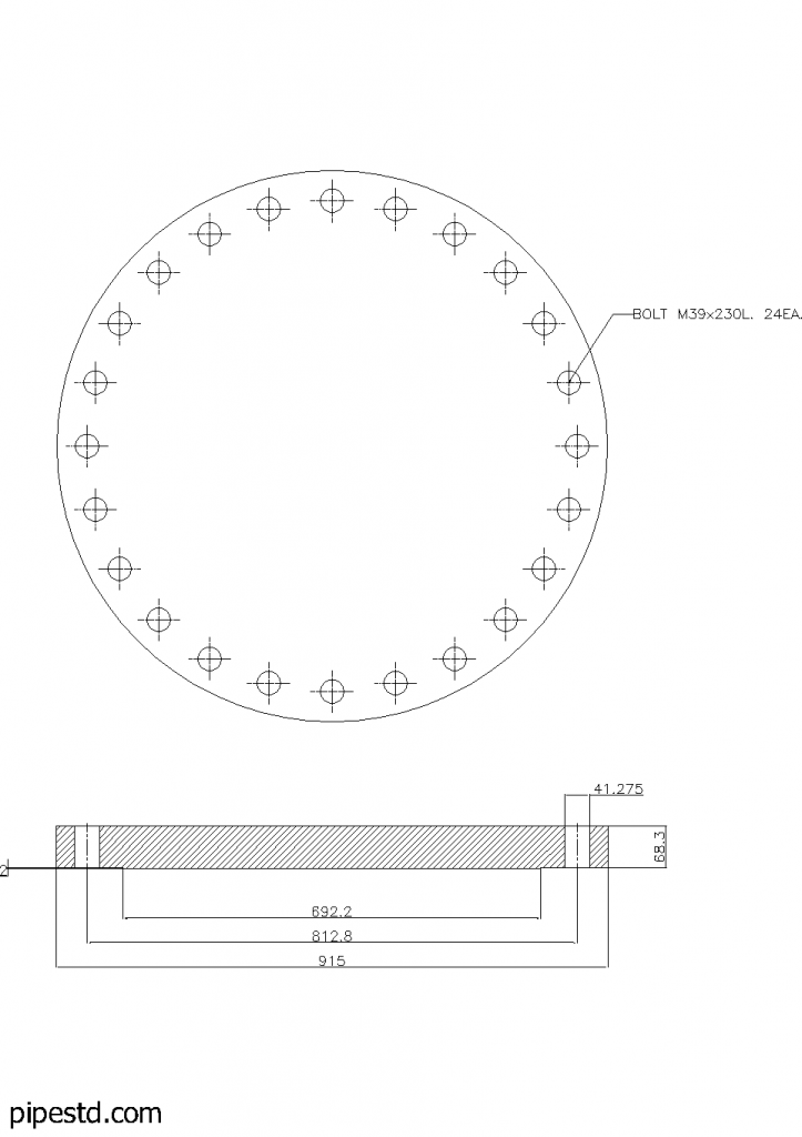 Blind Flange 24 Inch Class 300