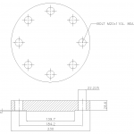 Blind Flange 3 1/2 Inch Class 300