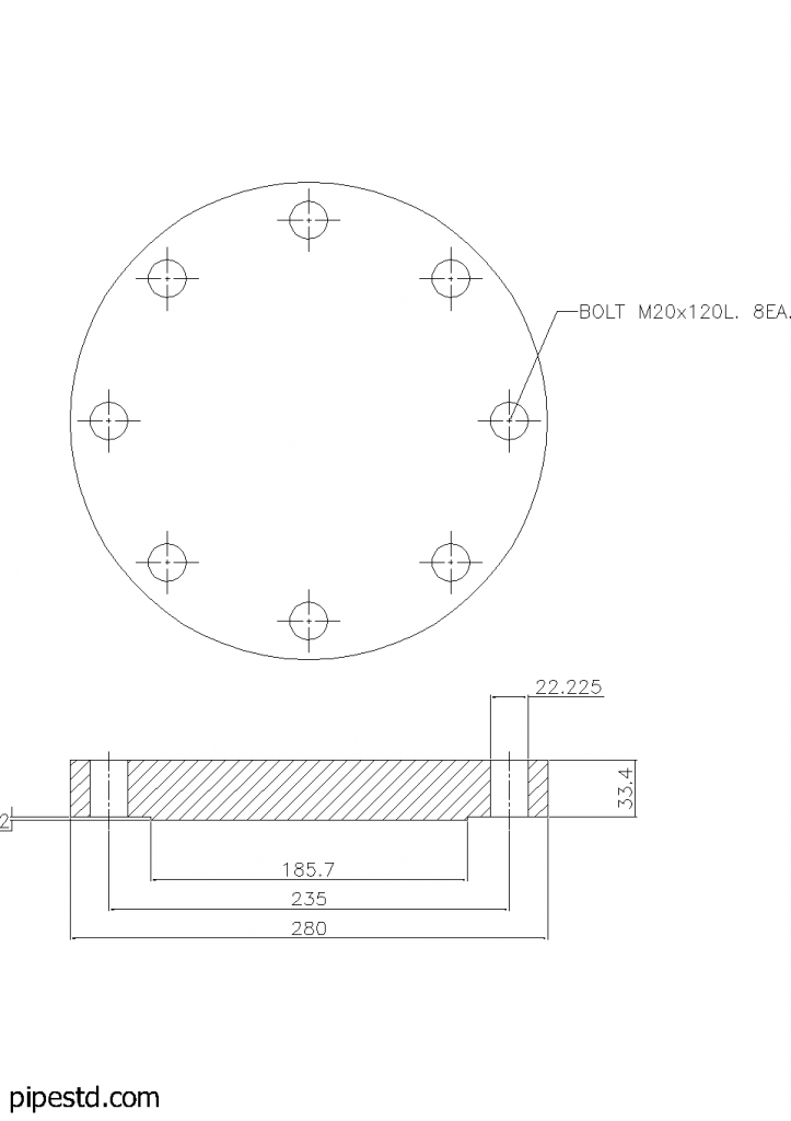 Blind Flange 5 Inch Class 300