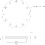 Blind Flange 8 Inch Class 300