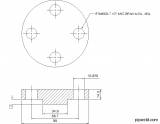 Blind Flange 1/2 Inch Class 400